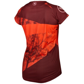 Endura SingleTrack Dots LTD Tech Tee Women hi-viz coral